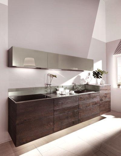 Cucina-Legno-e-Acciaio
